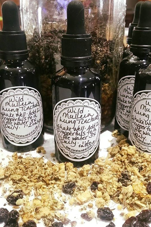 Mullein Lung Tincture - Wildcrafted Locally