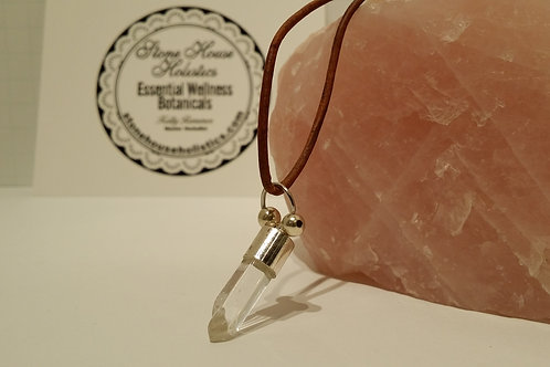 Clear Quartz Crystal Point Pendant