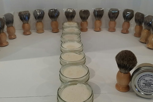Ye Olde Wet Shave + Natural Bristle Shave Brush
