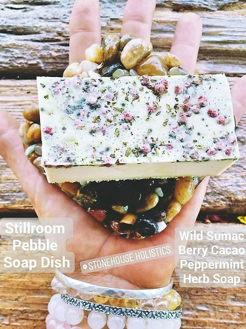 Wild Sumac Berry Cacao Peppermint ~ Herb Body Bar Soap