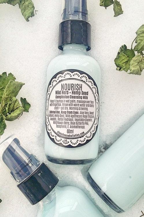 NOURISH ~ Complexion Cleansing Milk ~ Wild Herb + Hemp Seed