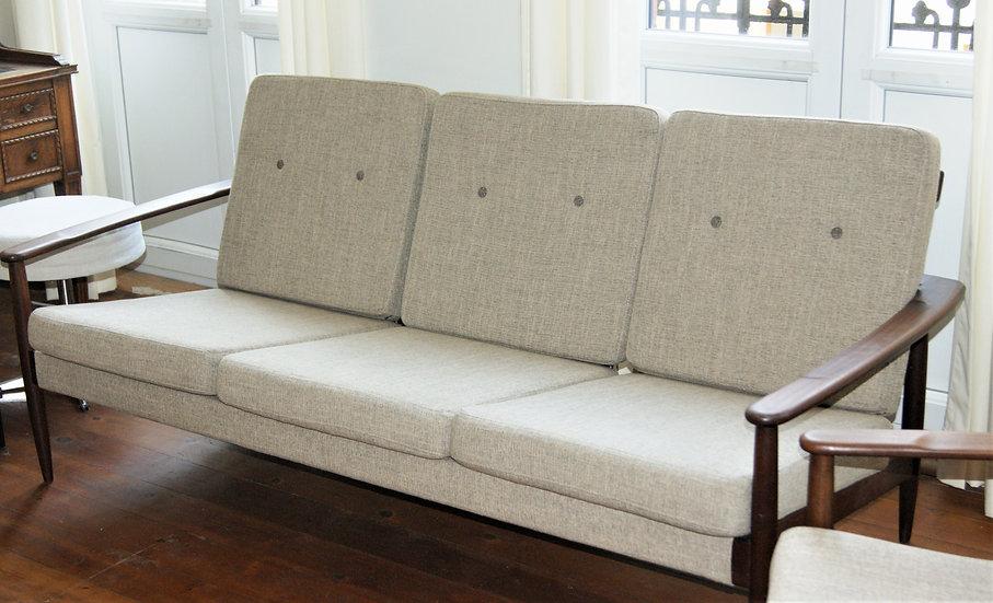 Canapé et 2 fauteuils scandinaves