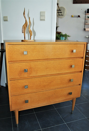 Commode en bois claire 4 tiroirs