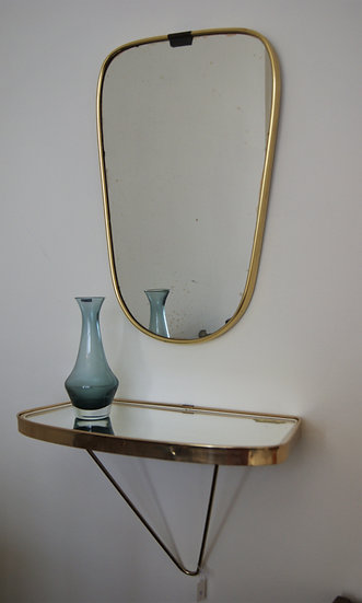 Miroir et étagère miroir