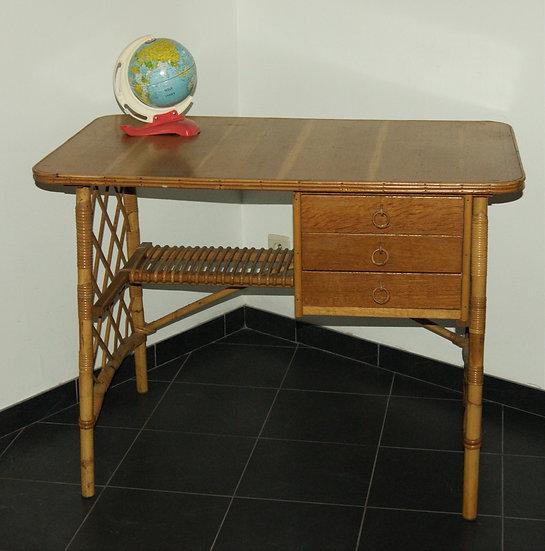 Petit bureau en rotin Louis Sognot
