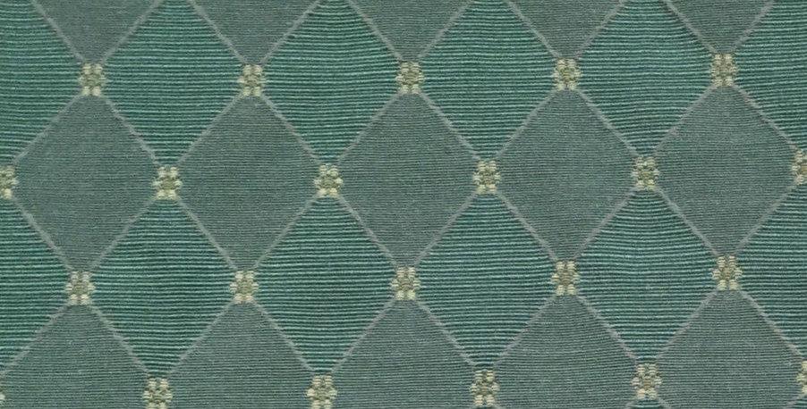 Classic Teal Diamond Pattern