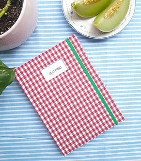 Cuaderno de Cocina A5   Cuadros rojos