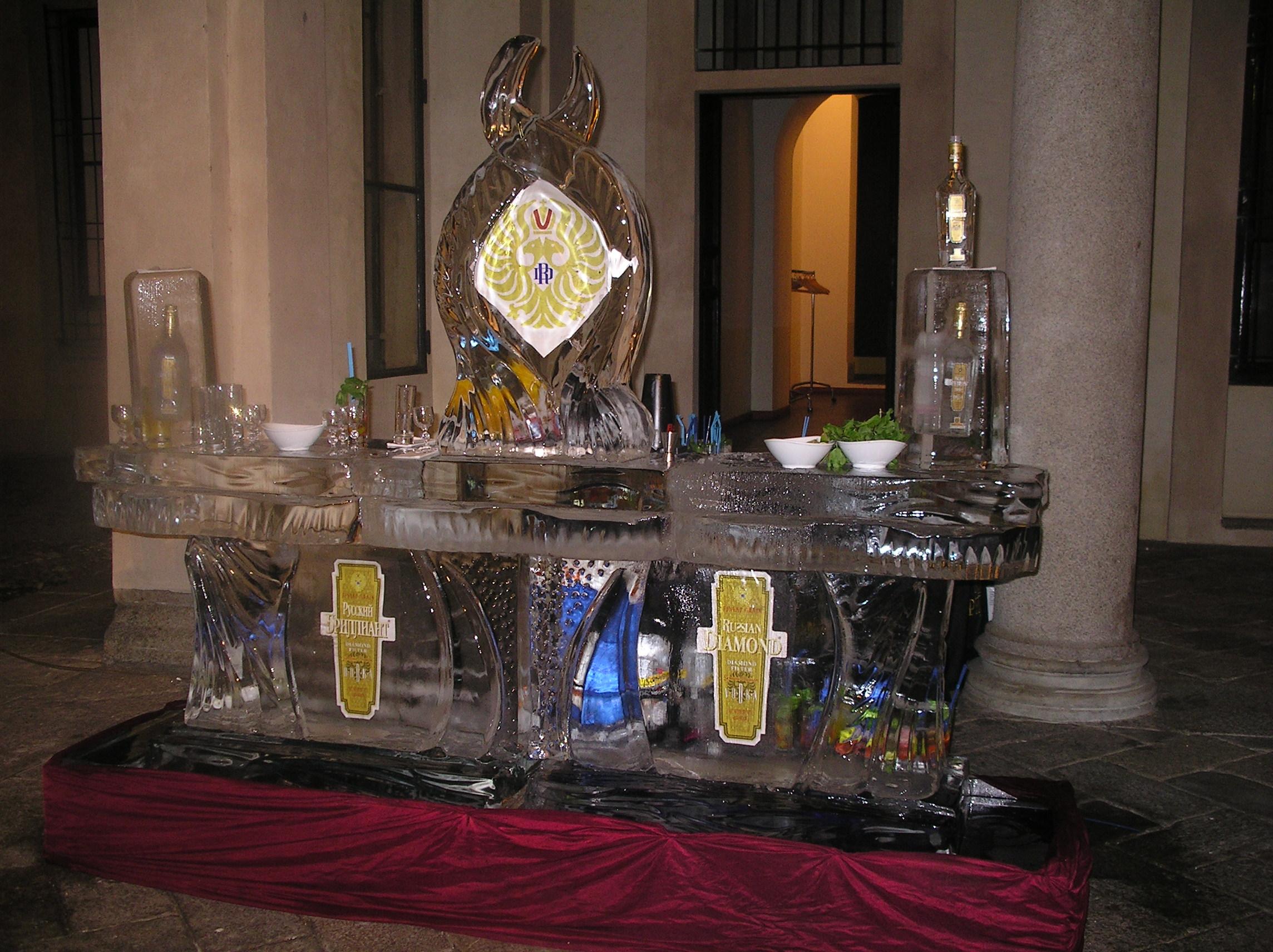 icebar Russian Vodka.
