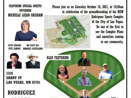 Rodriguez Park Sports Complex Groundbreaking!!