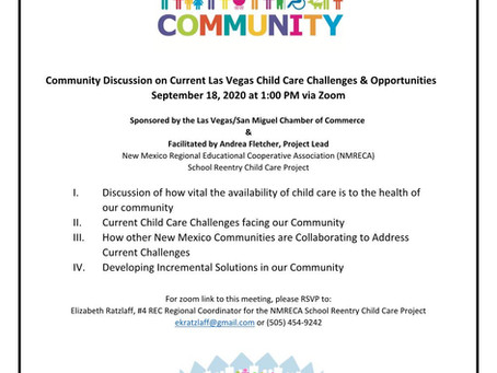 Join this Community Discussion on Current LV Childcare Challenges & Opportunities 9-18-20 via Zoom