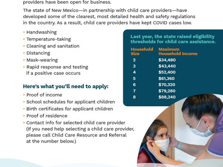 Important Child Care Information!