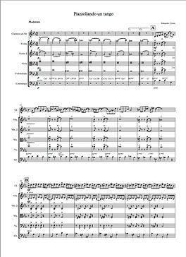 Piazzollando un tango  con clarineteuinteto de Cuerdas