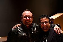 Con Arturo Stable. percusionista