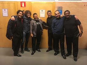 Con Reynold, Carlitos, Gasulla, Michel y Machado. En Madrid.