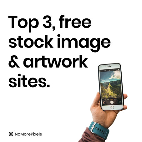 Top 3, free stock image & artwork sites.