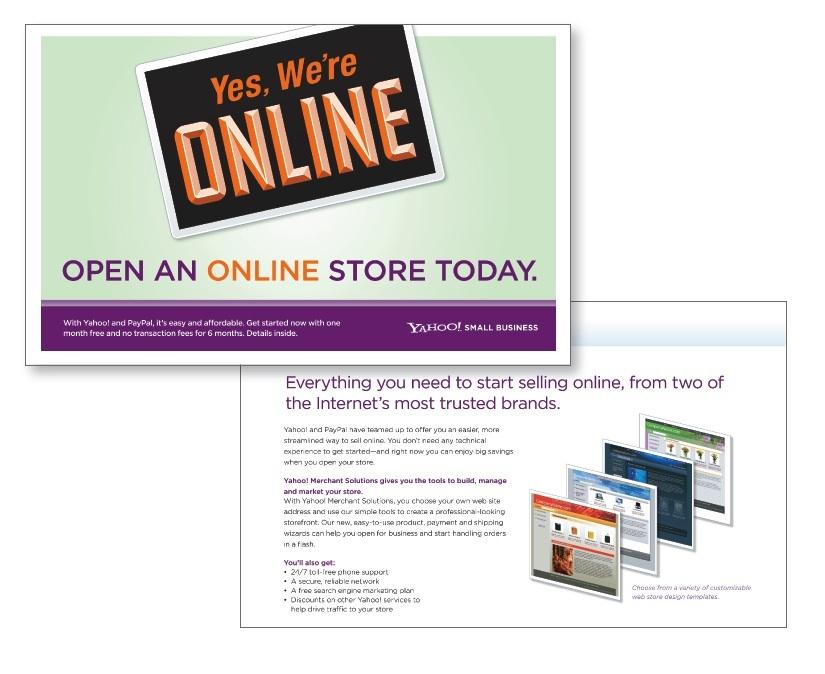 Yahoo! Merchant Postcard