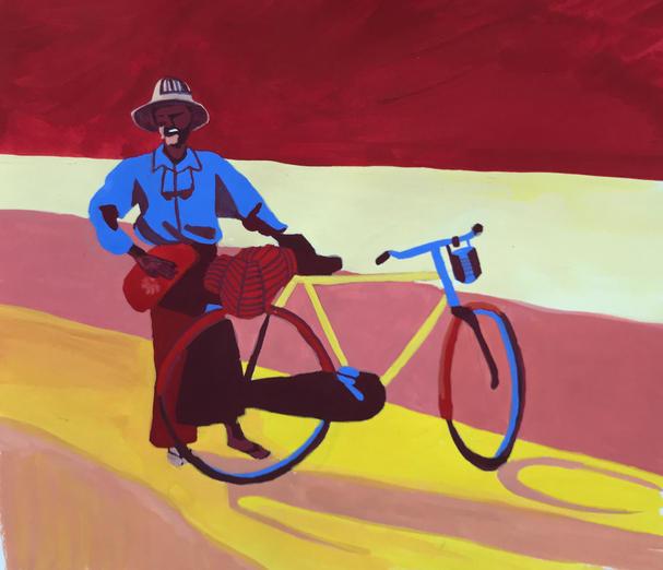 L'homme et la bicyclette