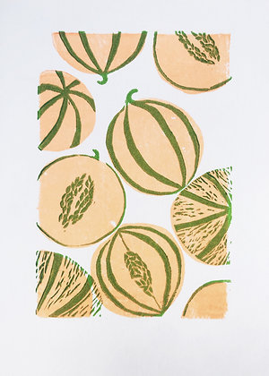 Melons linoprint
