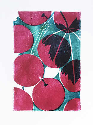 Grapes linoprint