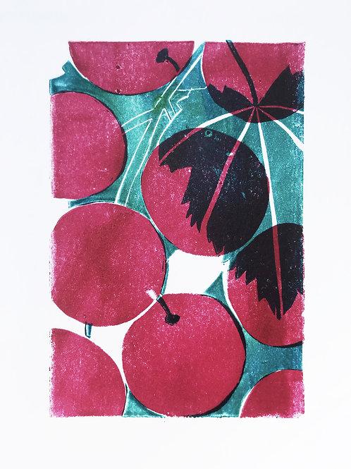 Grapes linoprint