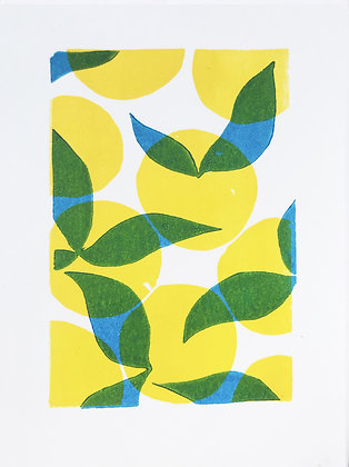 Lemons linoprint