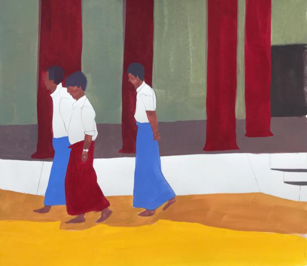 Hommes birmans