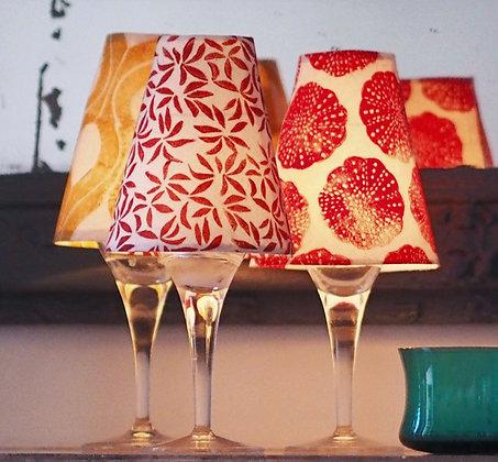3 abat-jours verre à vin / 3 wine glass lampshades