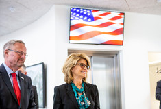 Reportagebillede af den amerikanske ambassadør Carla Sands