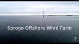 Dronevideo af vindmøllerne ved Sprogø