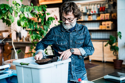 Billede af Thomas Sigfred, ejer af Sigfreds kaffefabrik