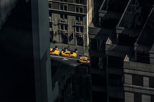 Kopi af Yellow cab. New York