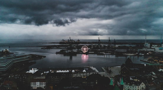 Dronefoto af Aarhus Havn