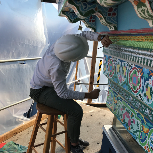 In the middle of Boulder Dushanbe Teahouse Restoration