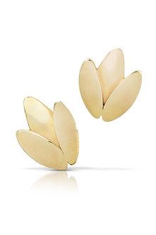 Leaf Earrings, 14K Gold