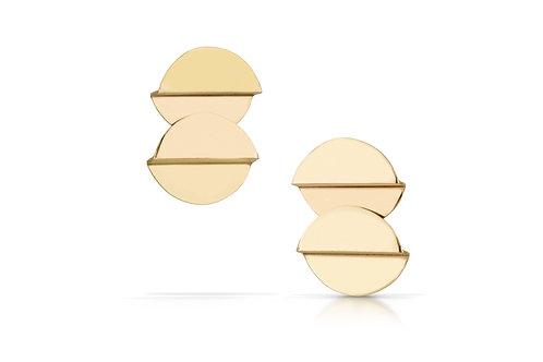 Folded Circle Earrings