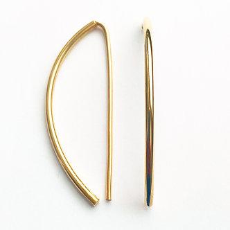 14K Gold Curved Earrings