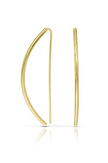 14K Curved Gold Earrings