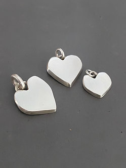 Silver Hearts, Large or Small ($115)