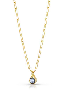 Gray Spinel in 18K Yellow Gold Necklace