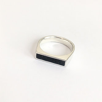 Men's Concrete and Sterling Silver Ring