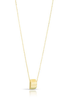 18K Gold Trapezoid Necklace