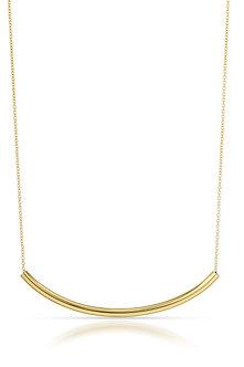 14K Gold Curve Necklace