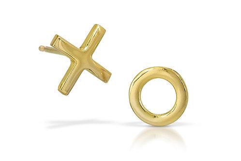18K Gold XO Earrings