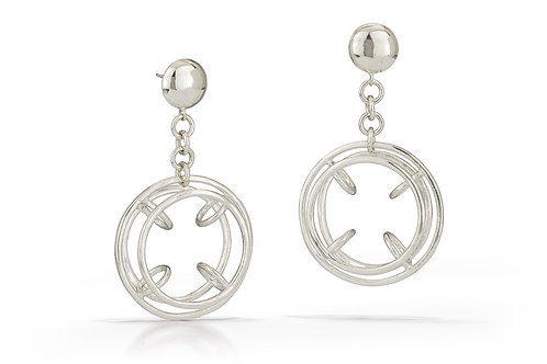 Bicycle Wheel Earrings