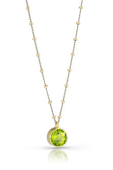 Peridot in 18K Gold Necklace