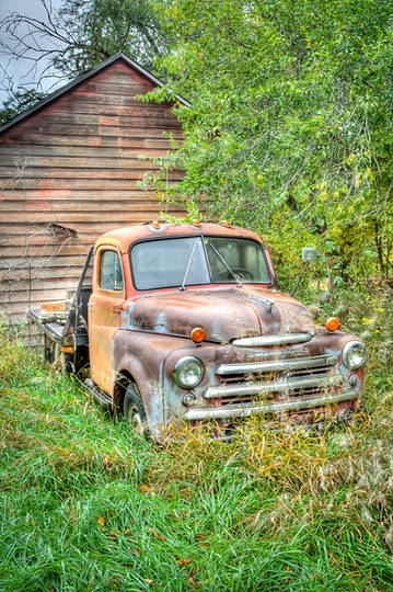 Plains Kansas Farm Truck hdr