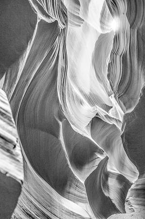 Upper Antelope Canyon B/W