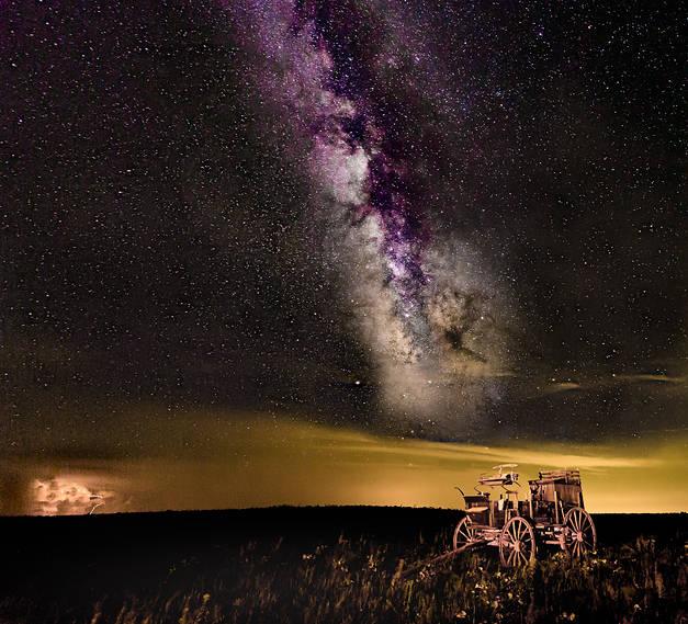 Flinthills of Kansas Milky Way