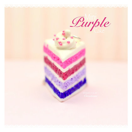 Purple Cake Charm