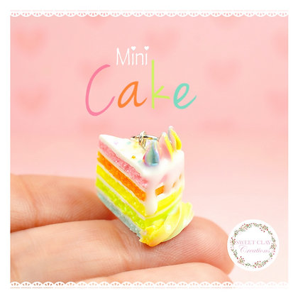 Soft Pastels Rainbow Cake Charm